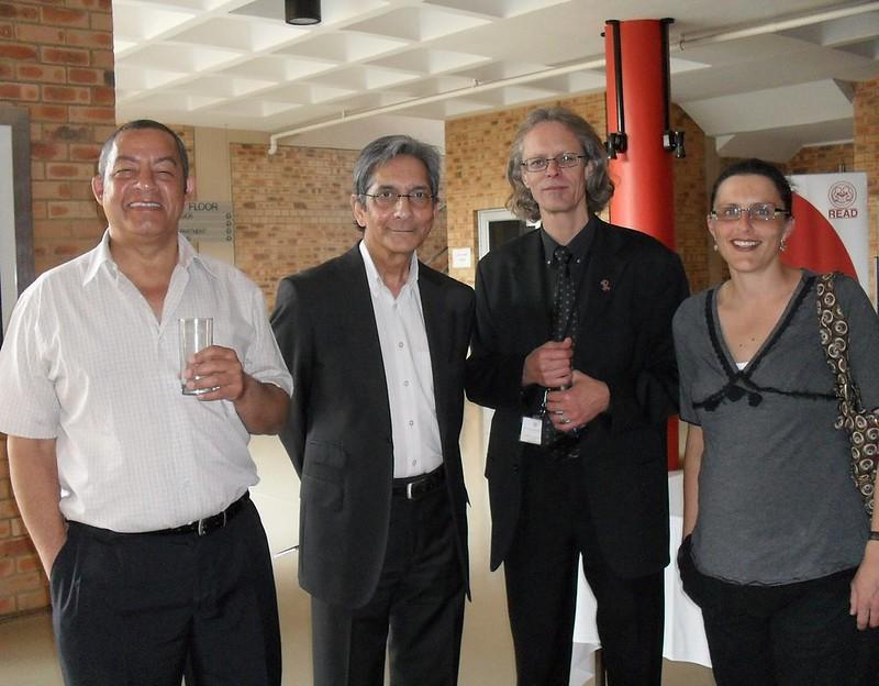 Chris van Wyk, Achmat Dangor, Verne Harris and Terry Morris